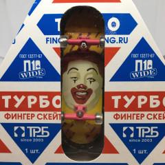 Фингерборд ТУРБО - Молоко / Клоун